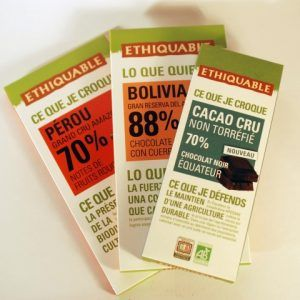 TABLETA CACAO CRUDO 70% 80 GR ETHIQUABLE