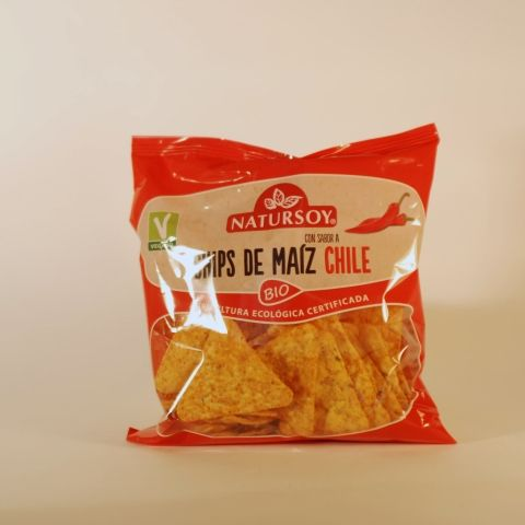 CHIPS MAIZ CHILE 75 GR NATURSOY