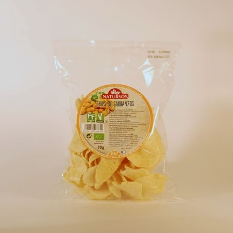 CHIPS GARBANZOS 70 GR NATURSOY
