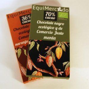 CHOCOLATE 70% CACAO MENTA 80 GR EQUIMERCADO