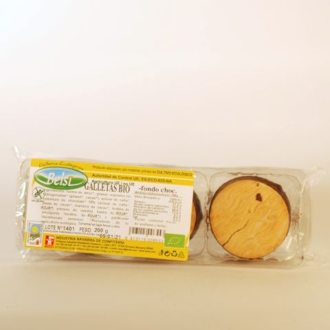 GALLETAS FONDO CHOCOLATE 200 GR BELSI