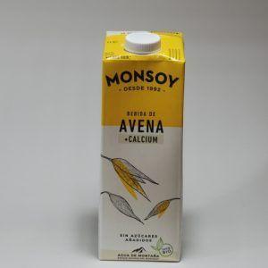 BEBIDA AVENA CALCIO 1 L MONSOY