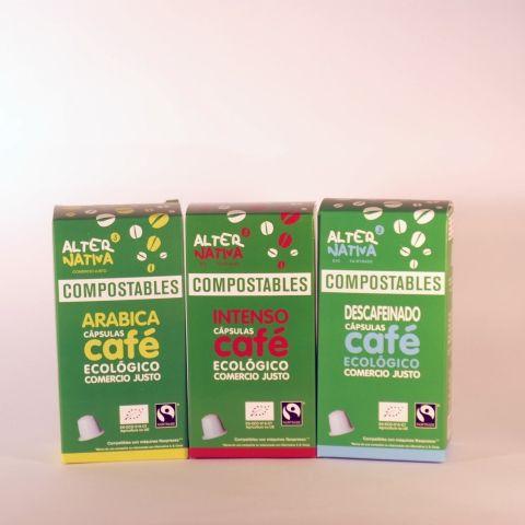 CAFE CAPSULAS COMPOSTABLES DESCAFEINADO 50 GR ALTERNATIVA3